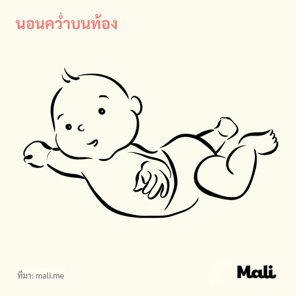 นอนคว่ำบนท้อง 5 วิธีช่วยกระตุ้นให้ลูกคลาน by Mali