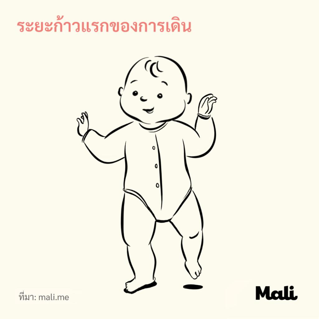8 ขั้นตอนการเดินของทารก_ระยะก้าวแรกของการเดิน by Mali