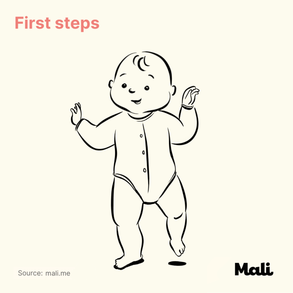 8 stages of baby walking_First steps by Mali
