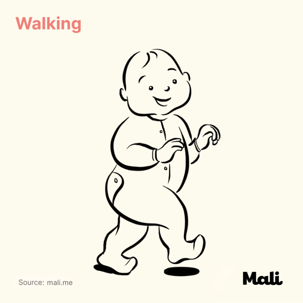 8 stages of baby walking_Walking by Mali