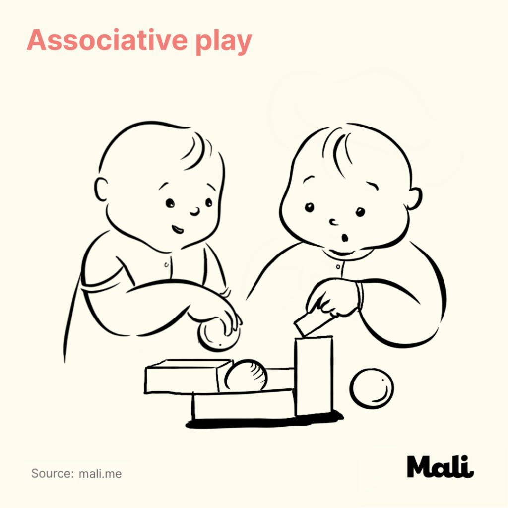 5 Critical stages of play early childhood associative play by Mali