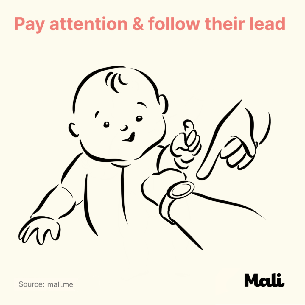 6 ways to boost baby's language skills_Pay attention and follow their lead by Mali