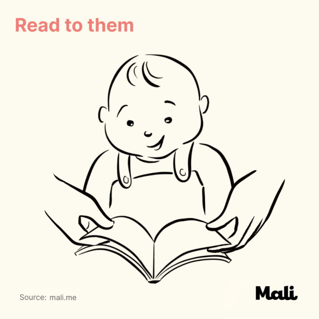 6 ways to boost baby's language skills_Read to them by Mali