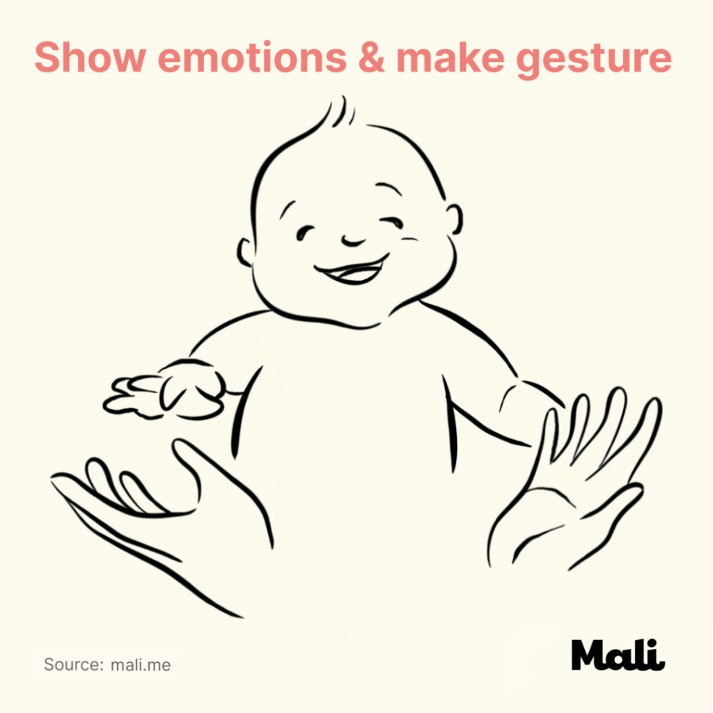 6 ways to boost baby's language skills_Show emotions and make gesture by Mali