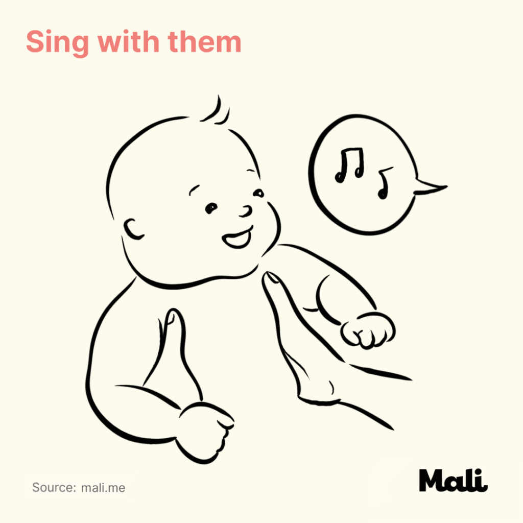 6 ways to boost baby's language skills_Sing with them by Mali
