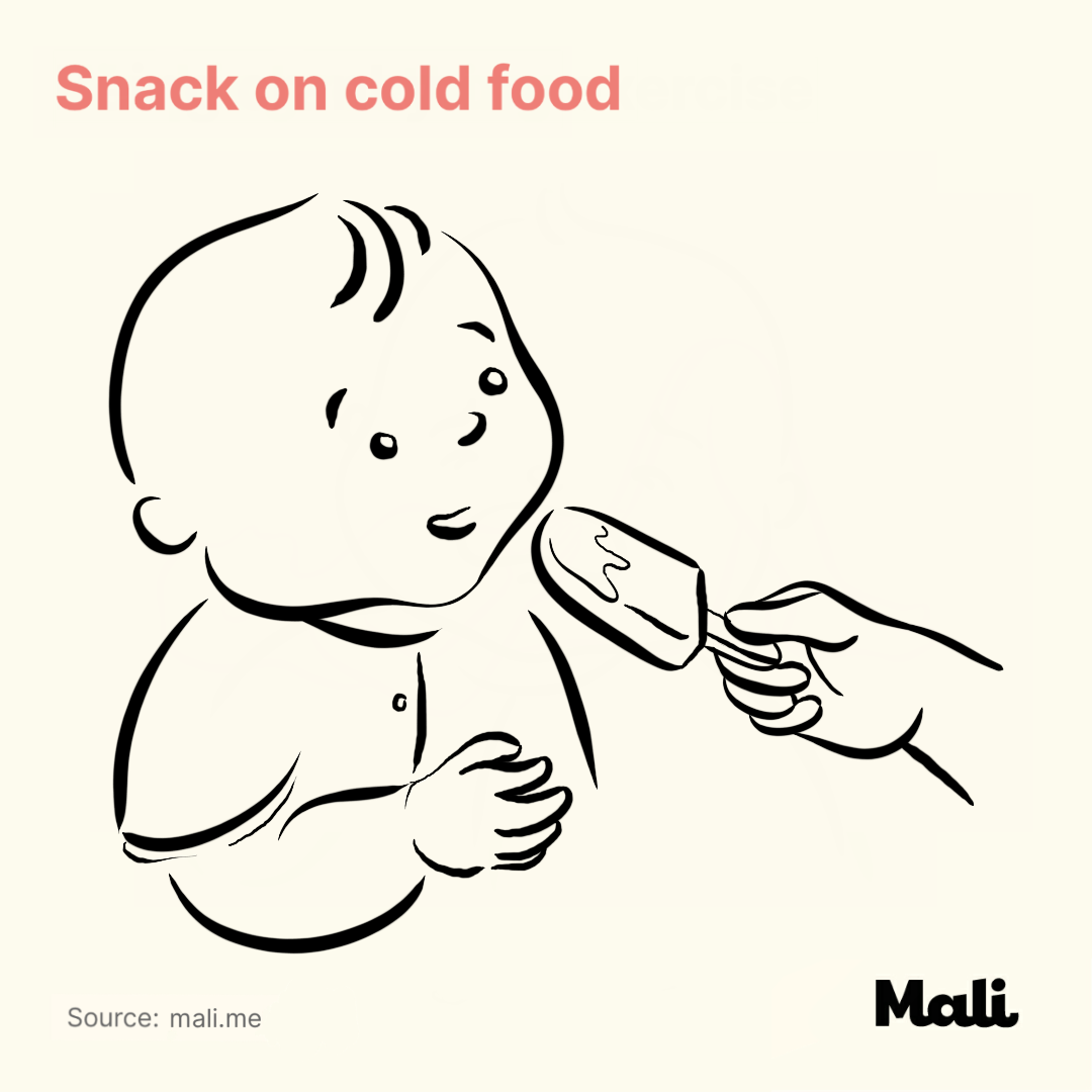 Snack on cold food_5 ways to relieve teething-related pains by Mali