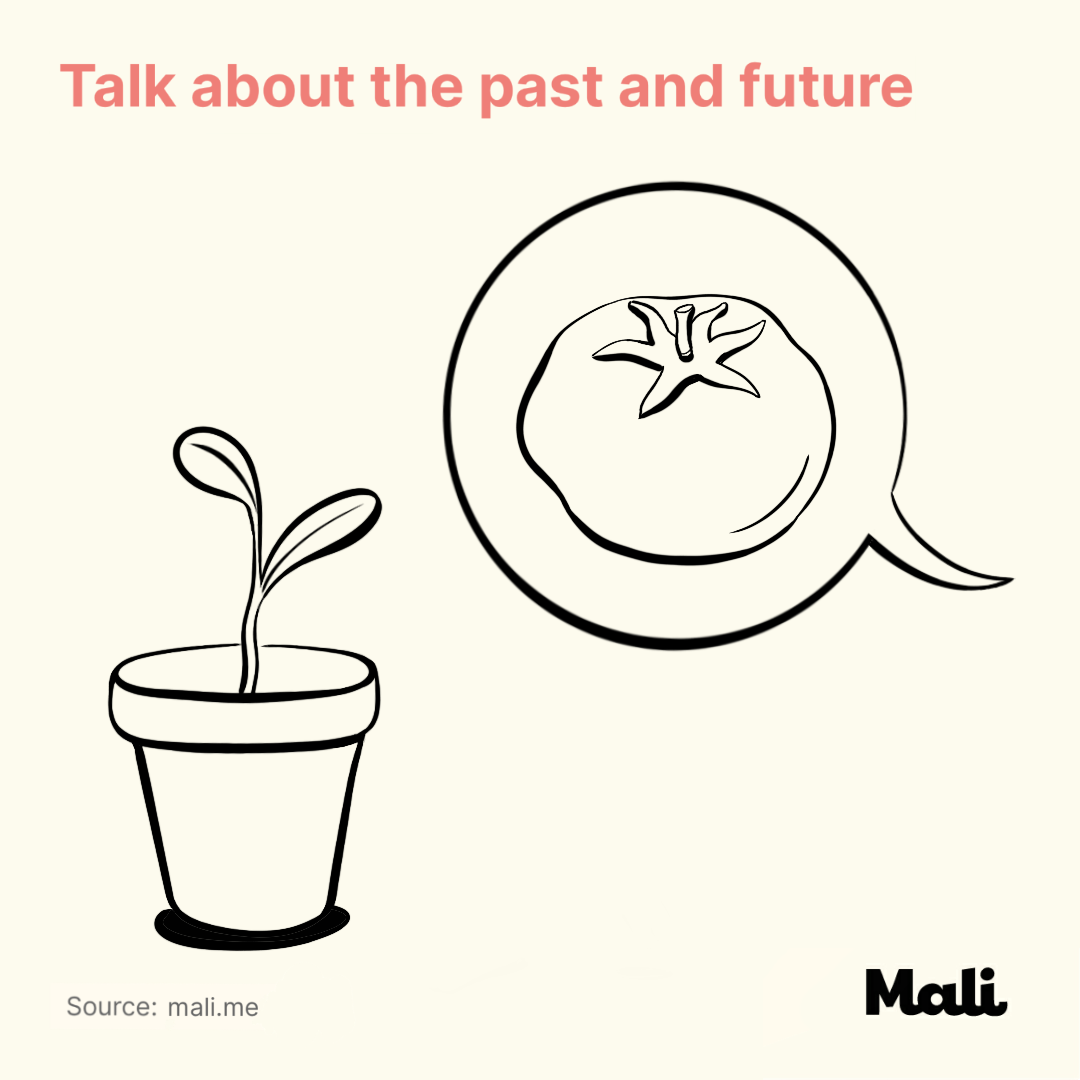 Talk about the past and future_7 important things to do when talking to a baby by Mali