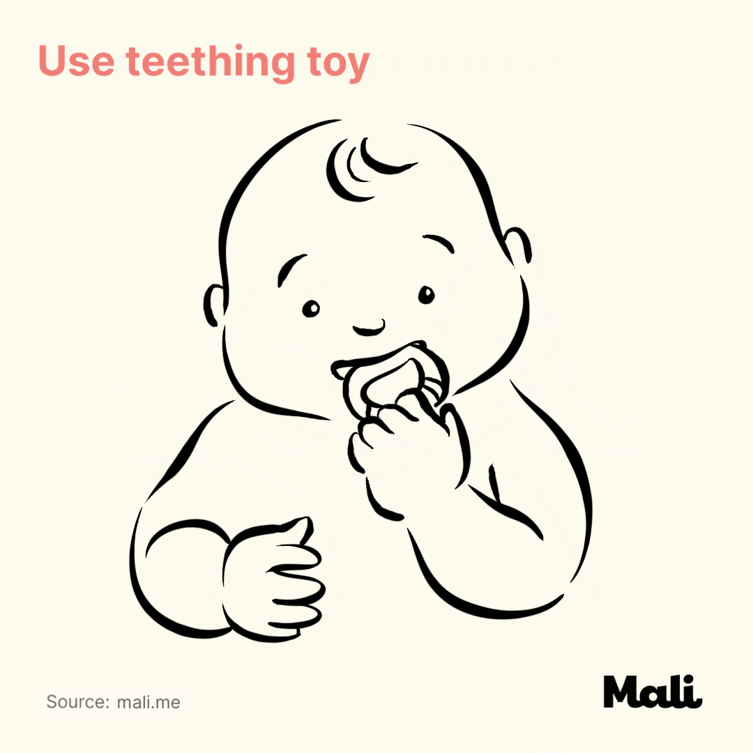 Use teething toy_5 ways to relieve teething-related pains by Mali
