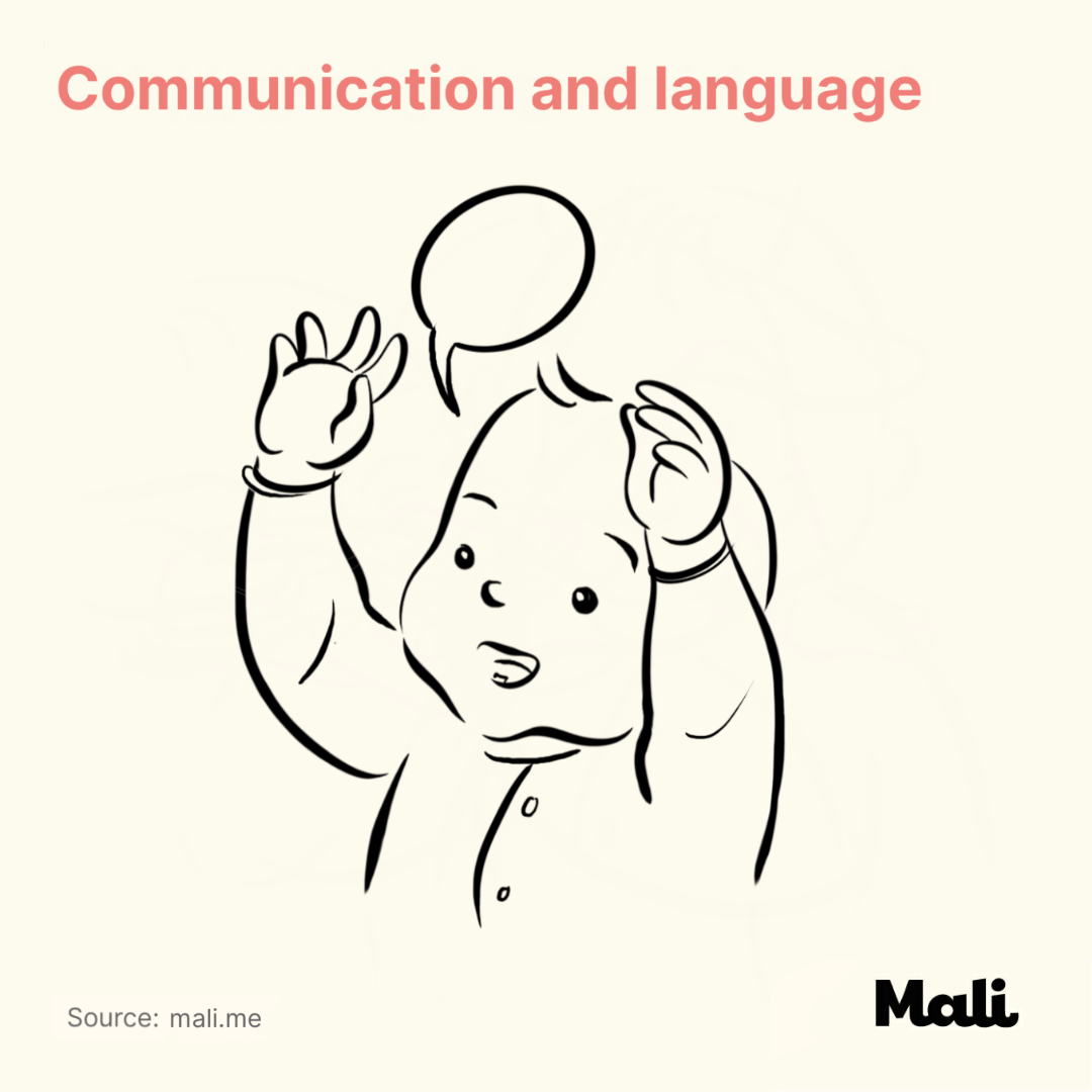 Communication and language_12 Important Milestones for children's development by Mali