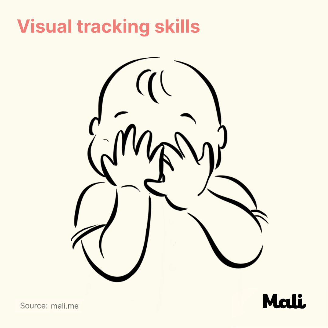 Visual tracking skill_The benefits of peek-a-boo and hide and seek by Mali